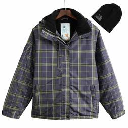 New ZeroXposur Men's Gray Plaid Comfort Warmth Performance S