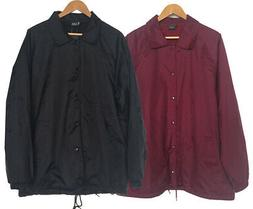 New Men's Lightweight Water Resistant Snap Button Up Windbre