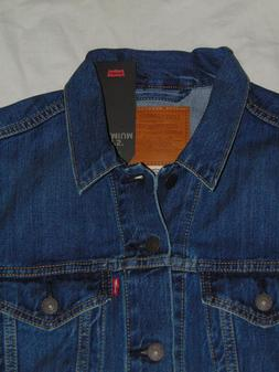 NEW ! Men's MEDIUM Levi's Premium Denim Trucker Jacket 0136