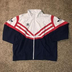 NEW MEN'S ADIDAS ORIGINALS SPORTIVE TREFOIL TRACK JACKET ~ S