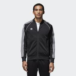 NEW MEN'S ADIDAS ORIGINALS SUPERSTAR TRACK JACKET   BLACK //
