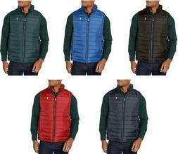 NEW IZOD Men's Quilted Puffer Vest Jacket Zip Up