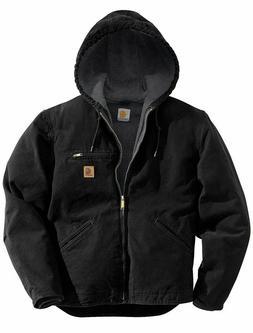 New Carhartt Men's Sherpa Lined Sandstone Sierra Jacket J141