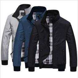 New Men's Slim collar jackets Zipper jacket Tops Casual coat