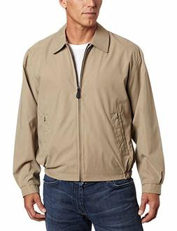 NEW London Fog Men's Zip-Front Golf Jacket CAMEL, SIZE SMALL