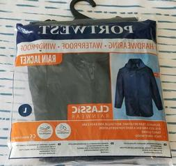 New PortWest Mens Classic Rain Jacket Poncho Large S440