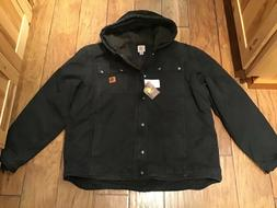 NEW Men's Carhartt Hooded Lined Jacket Size 2XL TALL