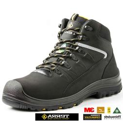 NEW MENS TERRA S3 WATERPROOF SAFETY WORK BOOTS SHOES HIKER S