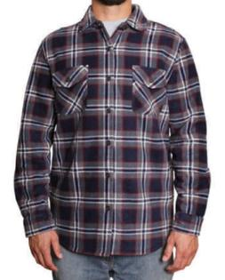 New Mens' Freedom Foundry Sherpa Lined Plaid Fleece Jacket S
