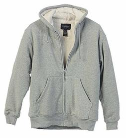 NEW Gioberti Mens Sherpa Lined Pull Zip Fleece Hoodie Jacket