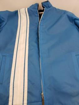 New! Mens Vintage 70's Great Lakes Racing Jacket Lined Blue