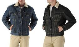 new sherpa lined denim jacket men s