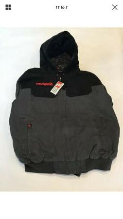 NEW Snap on Tools Men's Black Winter Coat Hood Jacket Gray/S