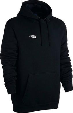 NEW NIKE Sportswear Men's Pullover Club Hoodie, Black/Black/