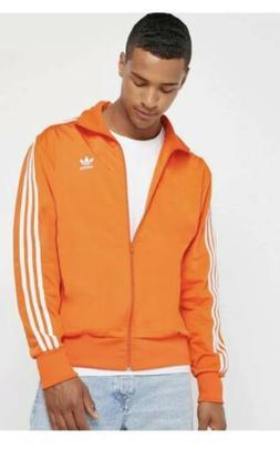 NEW! Adidas: Firebird Track Jacket Orange/ White Stripes  Me