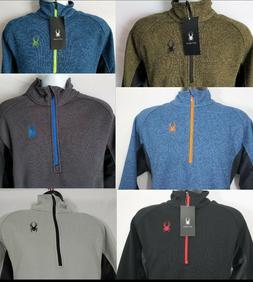 NEW Men's SPYDER Outbound Half Zip Jacket Sweater Core Black
