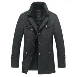 New Winter Wool Jackets Mens Casual Warm Outerwear Jacket an