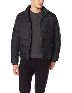 Kenneth Cole New York Men's Puffer Down Jacket, Black, Large