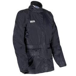 iXS Nimes Motorcycle Rain Jacket, Black, Men's