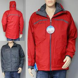 COLUMBIA NORDIC POINT II MENS 3 in 1 SYSTEMS JACKET COAT PAR