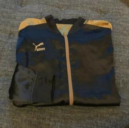 Nwot Puma Reversible Satin Jacket Black And Gold Mens Size X