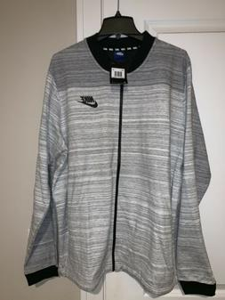 NWT Nike Advance 15 Knit Full Zip Bomber Jacket White/Gray/B
