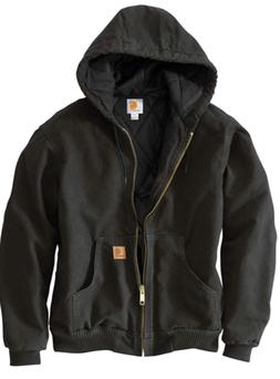 Carhartt NWT Black Men's Active Jacket J130 Size LARGE 3M Th