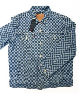 NWT Levi's Men's Checkmate Trucker Jacket Denim Jean 72334-0