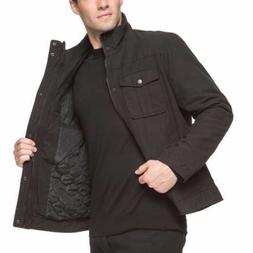 NWT Levi's Men's Full Zip Military Style Jacket, Black X-Lar