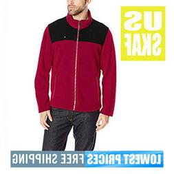 Tommy Hilfiger NWT Men's Classic Red & Black Zip Front Polar