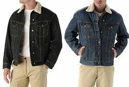NWT LEE Men's Fleece Lined Winter Warm Coat Trucker Denim/Je