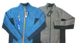 NWT SPYDER Men's Gray/Blue Constant Full Zip Fleece Lined Ja