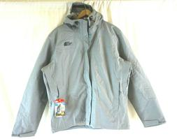 NWT The North Face Men's Gray Venture Hooded Full Zip Jacket