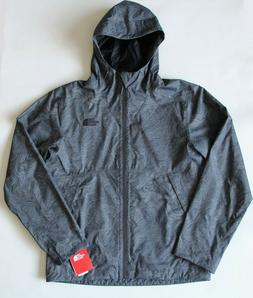NWT THE NORTH FACE MEN'S MILLERTON HOODED RAIN JACKET GREY L