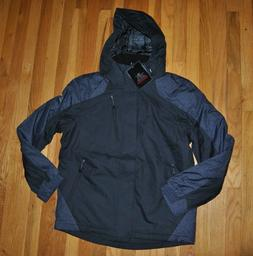 NWT Mens ZEROXPOSUR Black Detachable Hood Winter Jacket Coat