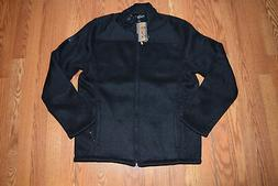 NWT Mens ZEROXPOSUR Performance Knit Black Outerwear Full Zi