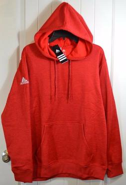 NWT MENS ADIDAS RED HTHR TECH FLEECE PULLOVER HOODY HOODIE J