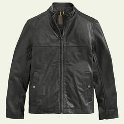 NWT New Timberland Men's Mount Major Leather Bomber Jacket B
