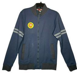 Nike NYC Full Zip Fleece Jacket Blue Gray Yellow Orange BV33