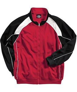 Charles River Men's Olympian Jacket Red / White / Black 3XL