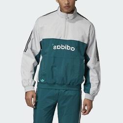Adidas Originals Arc Wvn Track Jacket Grey Green Men 3 Strip