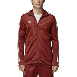 Adidas Originals Men's BB Beckenbauer Track Jacket Rust Red