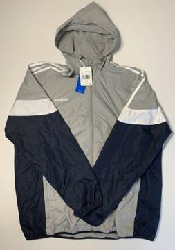 Adidas Originals Men's CLR84 Windbreaker Jacket Grey Navy Wh