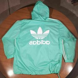 Adidas Originals Poncho Windbreaker Jacket Green/White CE247