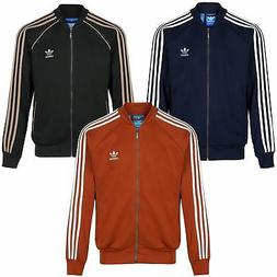 adidas ORIGINALS SUPERSTAR TRACK TOP MEN'S JACKET RED GREEN