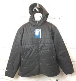 White Sierra Packable Hooded Zip Jacket Puffy Mens XXL Black