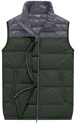 Wantdo Men's Packable Lightweight Feather Down Vest Puffer J