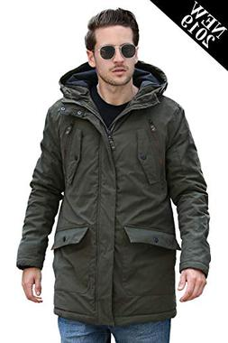YsCube Mens Parka Jackets for Men Winter Coats for Men Down