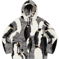 Supreme Penguins Fleece Jacket Black FW20 Size Large