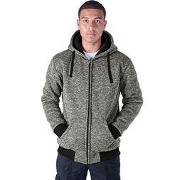 Eurogarment Plus Size S-5XL Marled Fleece Hoodie for Men Hea